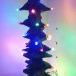 Nytt arbeid: Elektrisk keramisk juletre